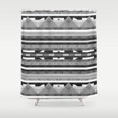 DG Aztec No.2 Monotone Shower Curtain