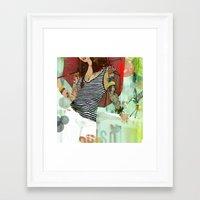 Framed Art Print featuring HOTEL PARADISO by Stephan Parylak
