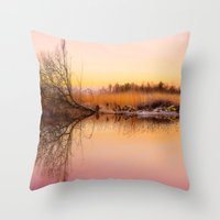 Norfolk Broads Throw Pillow