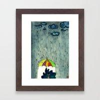 Oh! Raining Night Framed Art Print