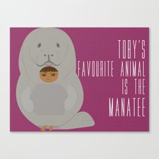 Toby as Manatee Canvas Print