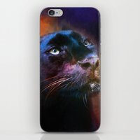 Colorful Expressions Black Leopard iPhone & iPod Skin