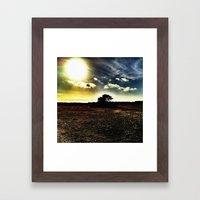 Light vs. Dark Framed Art Print