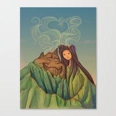 Volcano Love Canvas Print