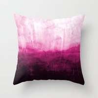 Paint 7 pink abstract painting ocean sea minimal modern bright colorful dorm college urban flat Throw Pillow
