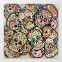 Sugar Skull Collage Canvas Print