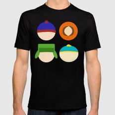 South Park Mens Fitted Tee Black SMALL