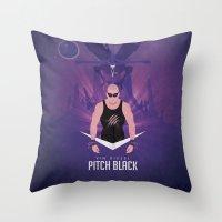Pitch Black - Badass Riddick Throw Pillow
