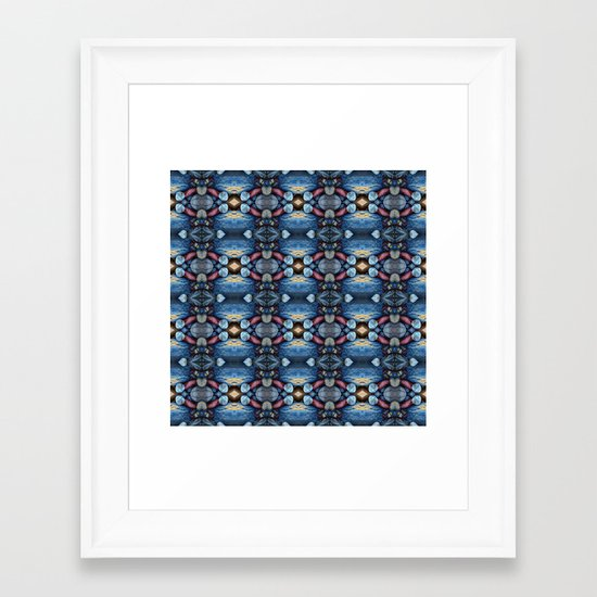 Pebbled Framed Art Print
