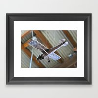 Model Airplane Framed Art Print