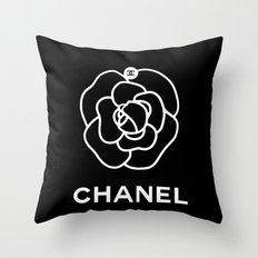 COCO CHANEL'S CAMELLIA Throw Pillow