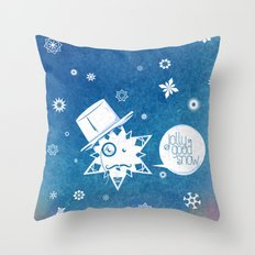 Jolly Good Snow Throw Pillow