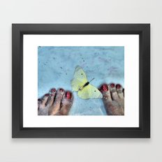 Butterfly Toes Framed Art Print