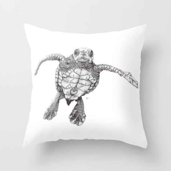 Chelonioidea (the turtle) Throw Pillow
