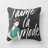 I Love Fashion Throw Pillow