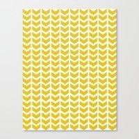 Mustard Chevron Canvas Print