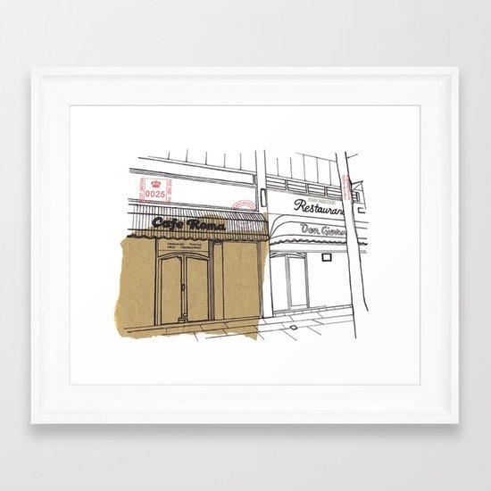 Cafe Roma. Framed Art Print