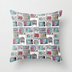 colour tv Throw Pillow