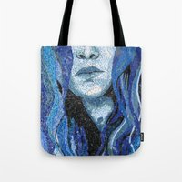 Of Water - Monochromatic Mosaic Tote Bag
