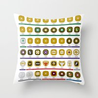 NBA Championship Rings Throw Pillow
