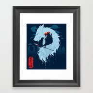 Framed Art Print featuring Hime by Sergio Mancinelli
