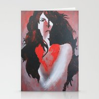 Naked Heart Stationery Cards