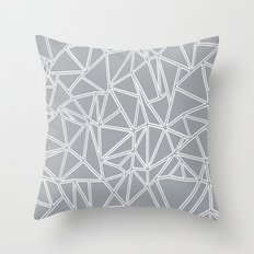 Ab Blocks Grey #2 Throw Pillow