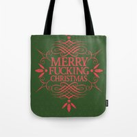 Merry Effin Christmas Tote Bag