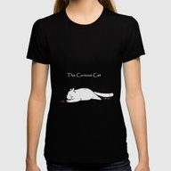 The Curious Cat Womens Fitted Tee Black SMALL
