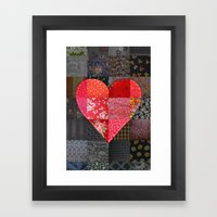 Patched Heart Framed Art Print