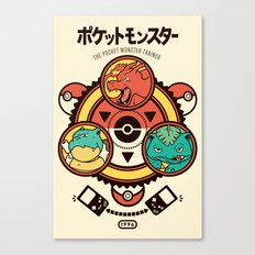 Pocket Monster Trainer Canvas Print