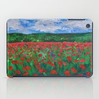 Poppy Field iPad Case