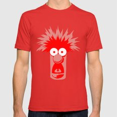 Muppets Beaker Mens Fitted Tee Red SMALL