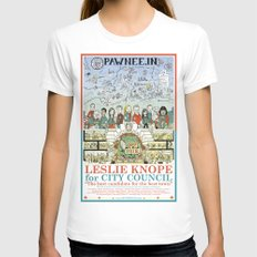Leslie Knope For City Co… Womens Fitted Tee White SMALL