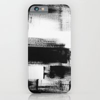 No. 85 Modern abstract black and white painting iPhone 6 Slim Case