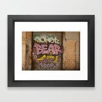 Who's Afraid of the Big Pink Bear Framed Art Print