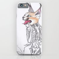 iPhone & iPod Case featuring Half Man Half Caracal by YAP9