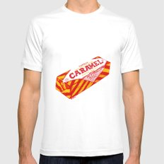 Caramel Wafer pen drawing SMALL White Mens Fitted Tee
