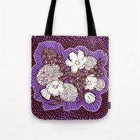 Placed Floral: Mauve Brown Tote Bag