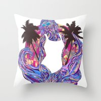 Cali for the Summer Throw Pillow