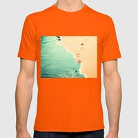 beach Mens Fitted Tee Orange SMALL