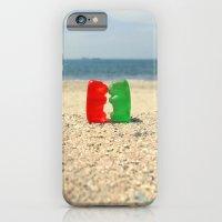 iPhone & iPod Case featuring Gummy Bear Beach Kiss by RichCaspian