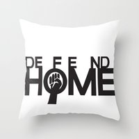 Defend Home Throw Pillow