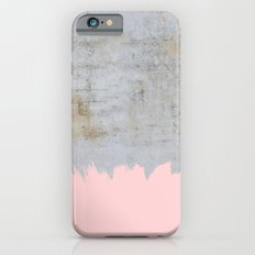 Paint with pink on concrete iPhone 6s Slim Case