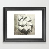 Ribbon - Graphite Illust… Framed Art Print