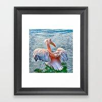 Pink Pelican Framed Art Print