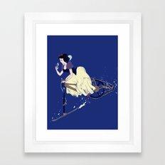 Snow Bike Framed Art Print