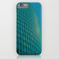 Teal Blue Abstract iPhone 6 Slim Case