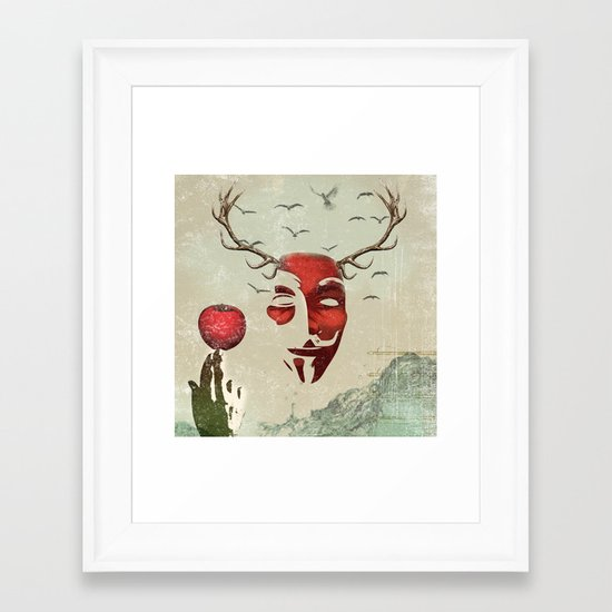 isaac and his apple Framed Art Print