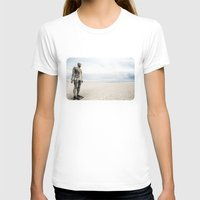 Crosby Beach Man  Womens Fitted Tee White SMALL